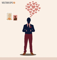 Businessman with cloud of heart vector image