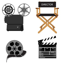 Cinema icon set vector image vector image