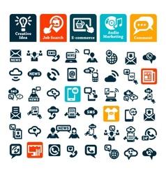 communication web icons set vector image vector image