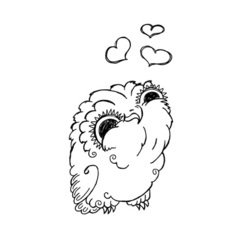 Cute Owl Doodle Grunge Kawaii Picture vector image vector image