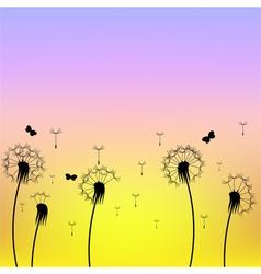 Dandelion silhouette vector
