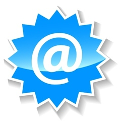 Email blue icon vector
