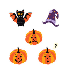 flat halloween symbols set vector image