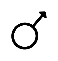 Gender sign spear and shield of Mars 3407 vector image vector image
