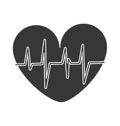 Heart cardio healthy lifestyle gym design vector