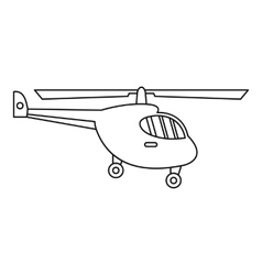 Helicopter icon outline style vector image vector image
