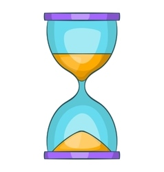 Hourglass icon cartoon style vector image