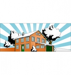 house with garden vector image vector image