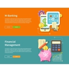 Internet Online Banking and Financial Management vector image