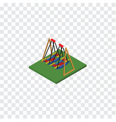 Isolated swing isometric seesaw element vector