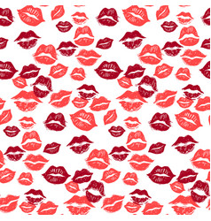Kiss marks seamless pattern grunge hand drawn vector