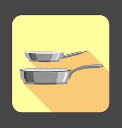 Pan set concept background cartoon style vector