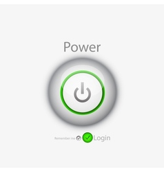 power login button vector image