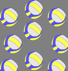 Seamless volleyball pattern vector image vector image