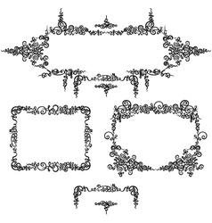 Set frames calligraphy vector image vector image