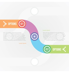Smooth line for infographics with two options vector