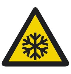 snowflake signSnow warning sign vector image vector image
