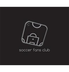 Soccer fans icon vector