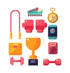 Sports inventory items set vector
