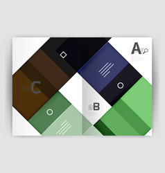 squares and rectangles a4 brochure template vector image vector image