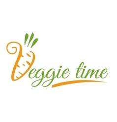 The logo or icon veggie time vector