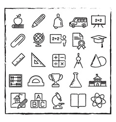 thin line school education and science icons set vector image vector image