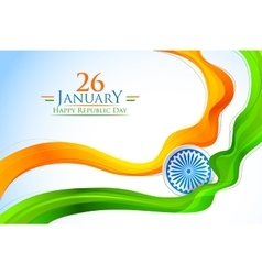 Tricolor India banner with Indian flag vector image