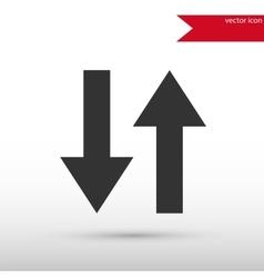 Two arrows icon vector