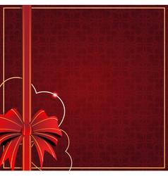 Valentines Day vintage card vector image