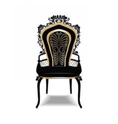 Vintage baroque golden chair vector