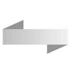 white ribbon banner banner on white background vector image vector image
