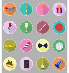 Celebration flat icons 20 vector