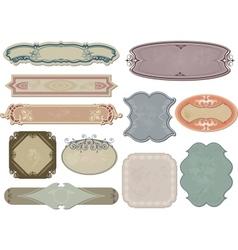 Set vintage labels for your design vector image