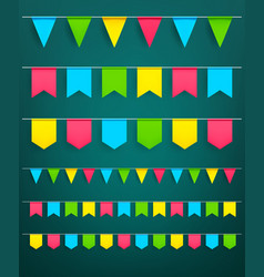 Festival flag garlands set for celebration vector