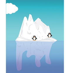 Iceberg and penguin vector