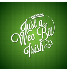 Patrick day vintage irish background vector