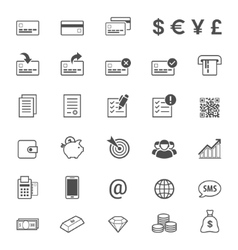 Finance and banking line style icon set vector