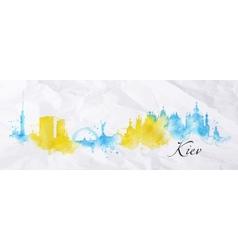 Silhouette watercolor Kiev vector image