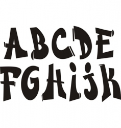 graffiti font vector image