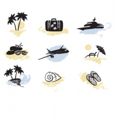beach and traveling vector image