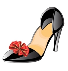 Feminine loafers vector