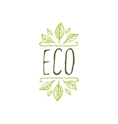 Eco product label on white background vector