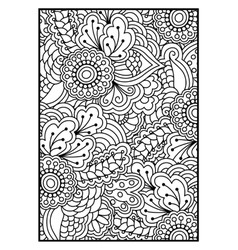 Floral pattern for coloring book vector