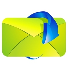 E-mail with arrow vector