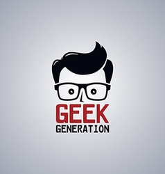 geek nerd guy vector image
