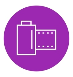 Camera roll line icon vector
