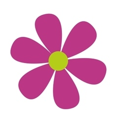 purple flower floral icon vector image