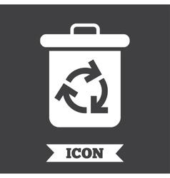 Recycle bin icon reuse or reduce symbol vector