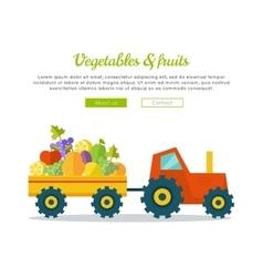 Vegetables fruits concept web banner vector