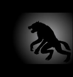 A werewolf lurking in the dark vector